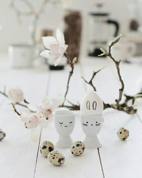 magnolie wachteleier osterdeko ideen