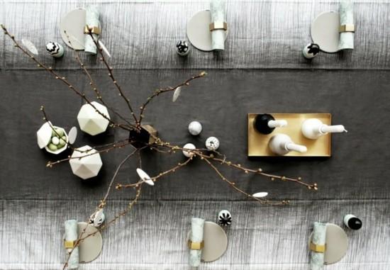 minimalistische tischdekoration osterdeko ideen