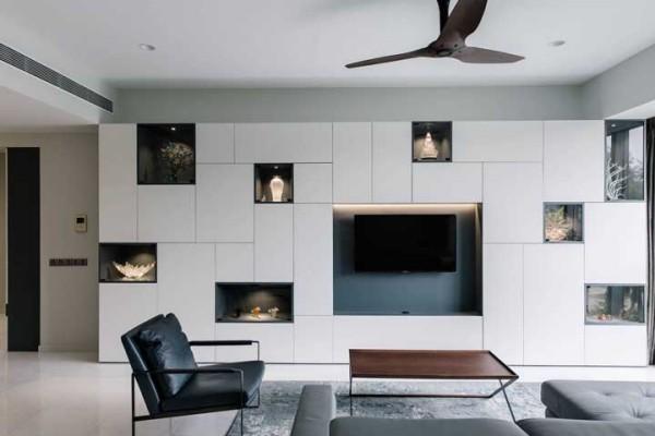 moderne wohnzimmer ideen wandgestaltung