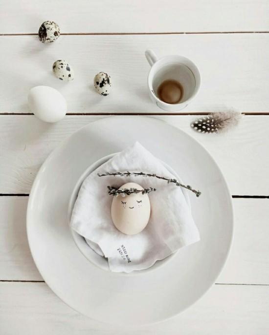 niedliche tischdeko osterdeko ideen minimalistisch