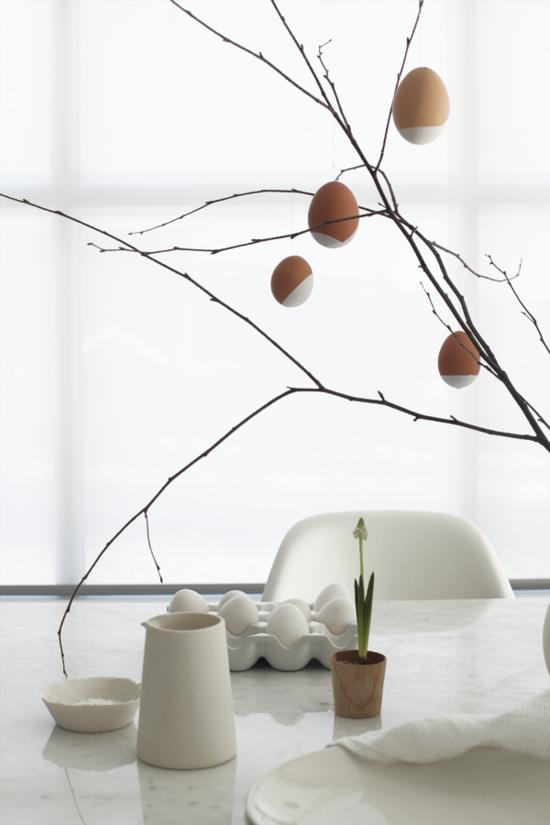 osterdeko ideen eier minimalistisch gestalten