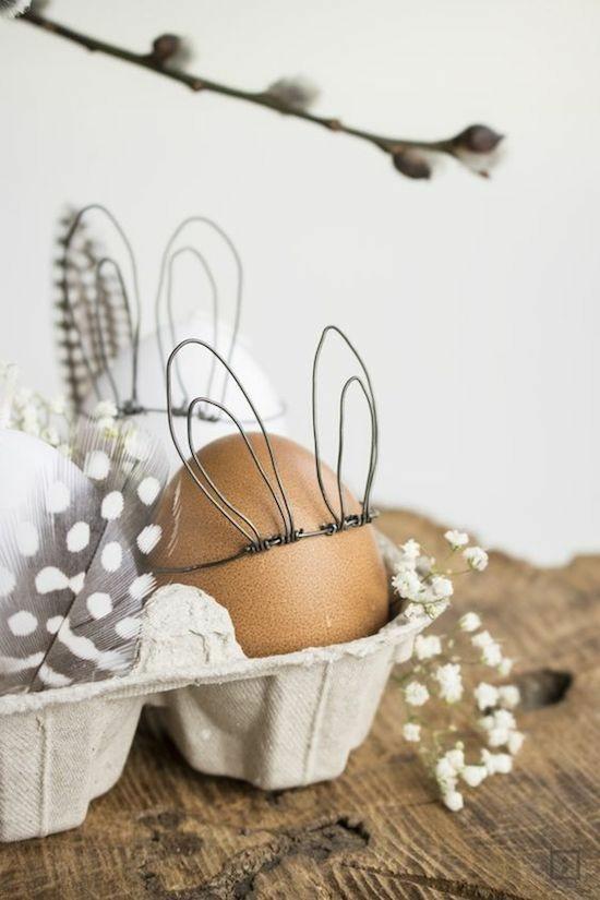 osterdeko ideen ostereier puristisch dekorieren