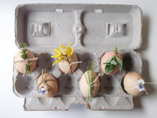 puristische osterdeko ideen mit eiern