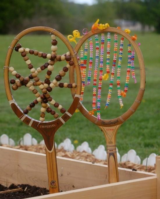tennisschläger gartendeko selber machen ideen