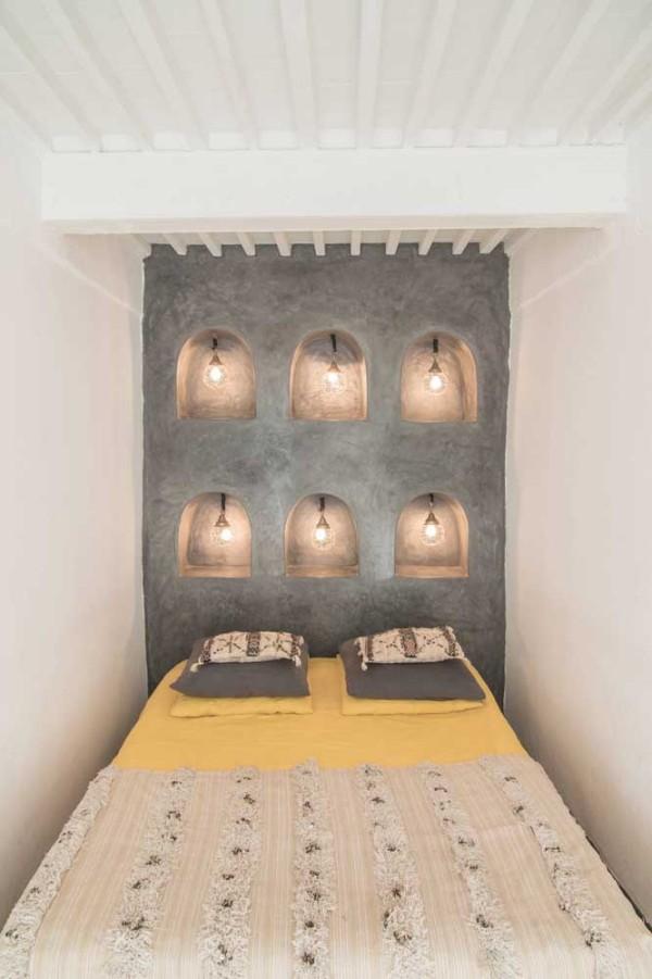 tolle leuchten im badezimmer wandgestaltung