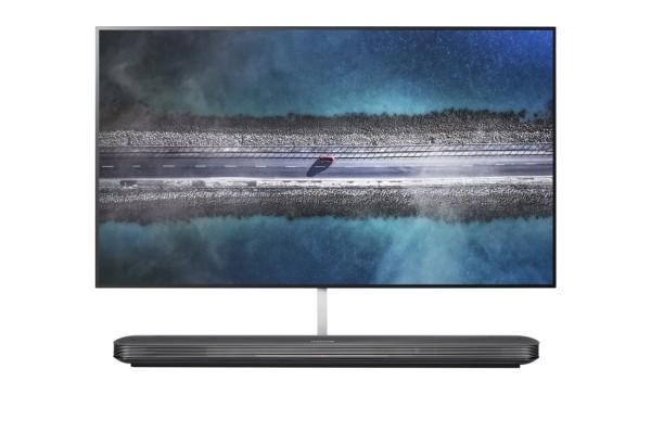 viele blauen und grauen Farben 4K Fernseher