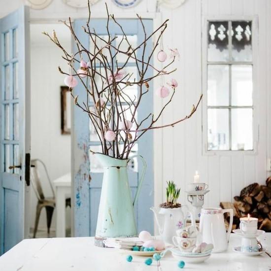 vintage osterdeko ideen tischdekoration