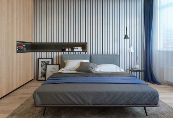 wandgestaltung die Gestaltung von einem Bett