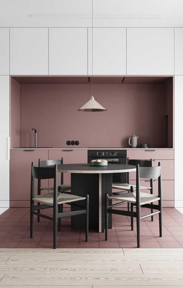 wandgestaltung moderne küchennischen
