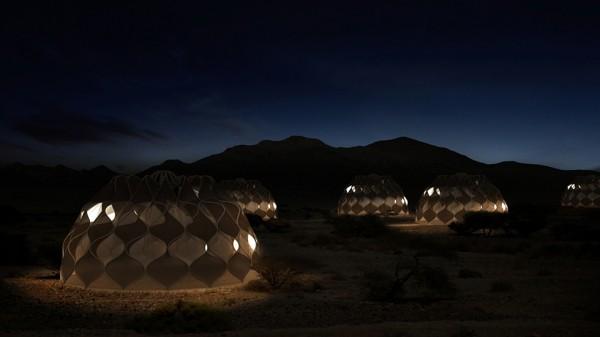 zelten in der nacht hi-tech