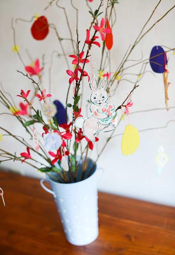 Blumenstrauß Idee für die Osterdeko