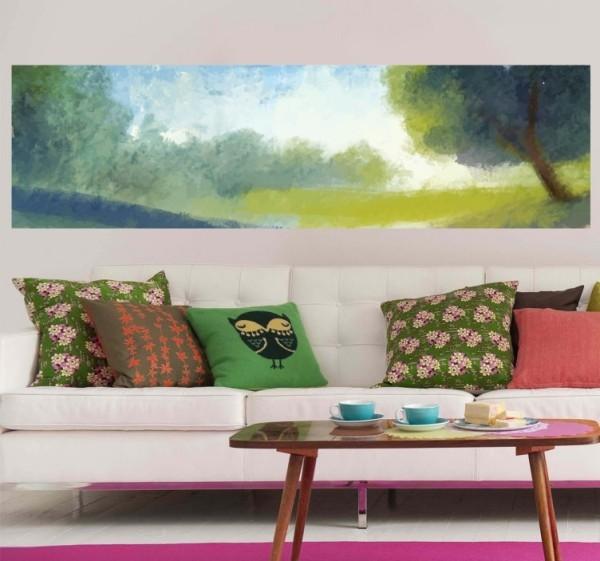 Das Wandtattoo verleiht Ihren Wohnräumen einen bezaubernden Charme grünes flachland wohnzimmer