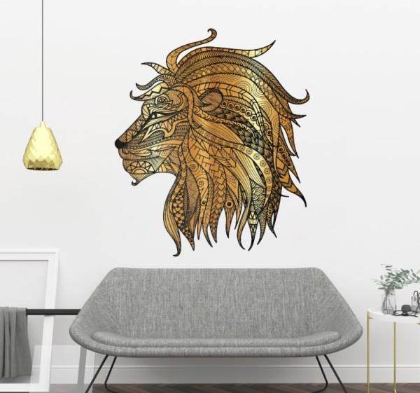 Das Wandtattoo verleiht Ihren Wohnräumen einen bezaubernden Charme metallischer lowe wohnzimmer