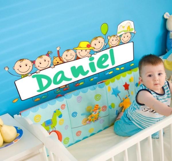Das Wandtattoo verleiht Ihren Wohnräumen einen bezaubernden Charme name aufkleber kinderzimmer