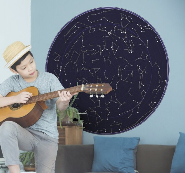 Das Wandtattoo verleiht Ihren Wohnräumen einen bezaubernden Charme sternenhimmel horoskop kinderzimmer