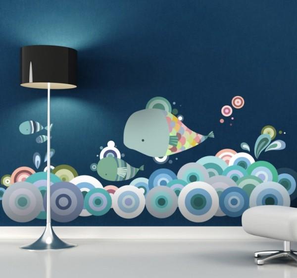 Das Wandtattoo verleiht Ihren Wohnräumen einen bezaubernden Charme unterwasser welt aufkleber kinderzimmer