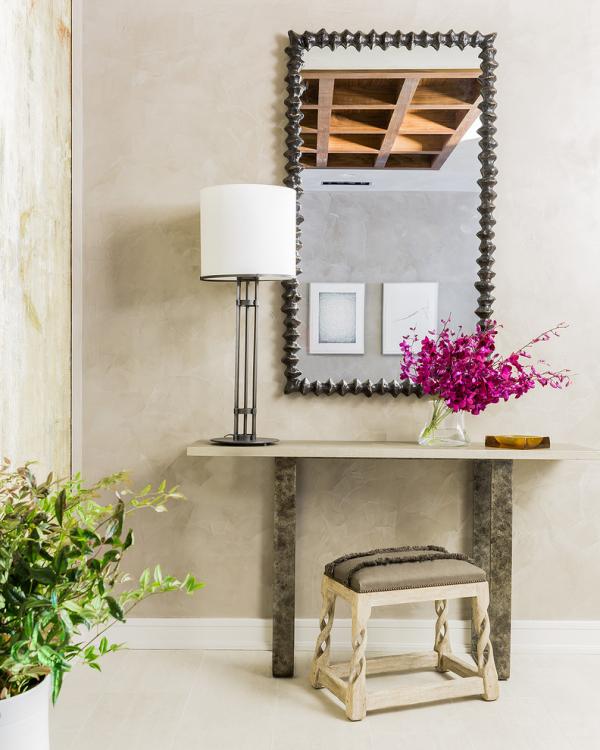 Dekorative Wandspiegel im Flur Rahmen aus Metall rechteckige Form