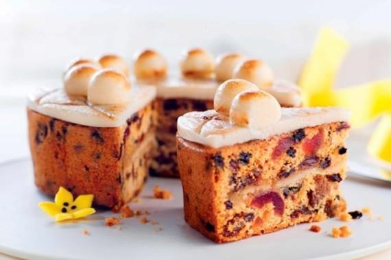 Früchtekuchen Rezept Kuchen Muttertag Simnel Osterkuchen