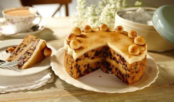 Früchtekuchen Rezepzt Kuchen zum Muttertag Mandelkuchen Marzipan