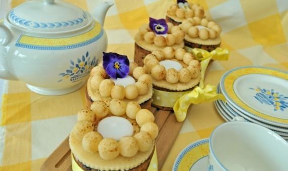 Früchtekuchen Rezepzt Kuchen zum Muttertag Simnel cake Törtchen backen