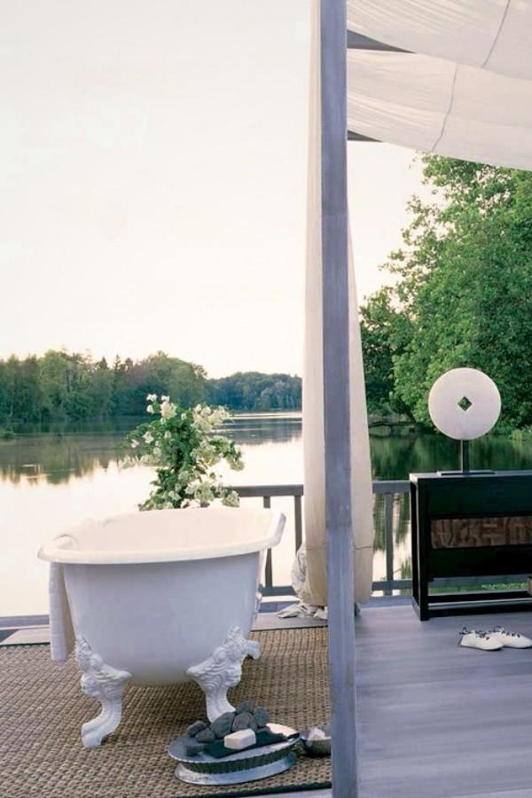 Gartendusche Outdoor-Bad Badewanne Badparadies im Freien ideen