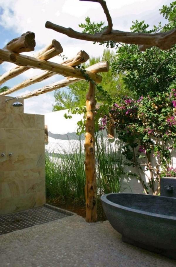 Gartendusche Outdoor-Bad Badparadies im Freien moderne Ausführung