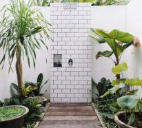 Die Gartendusche bringt Ihnen die willkommene Erfrischung im Sommer