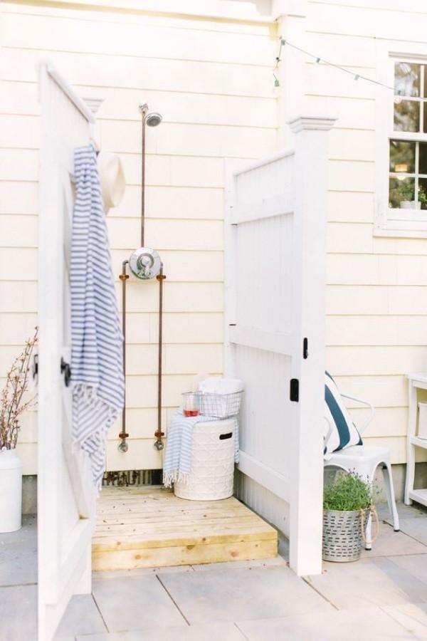 Gartendusche einfache Ausführung wenig Platz ideen