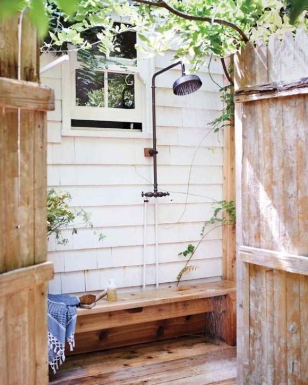 Gartendusche einfache Ausführung wenig Platz