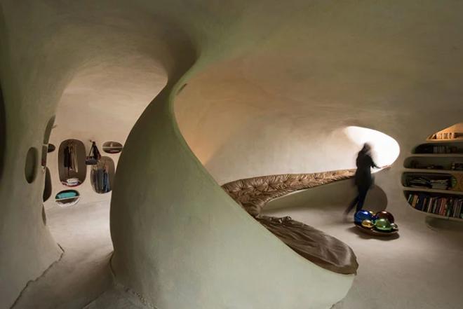 Hobbit House organische Architektur Ort für einmaligen Urlaub