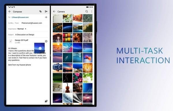 Huawei Mate X Freigabe wird trotz Problemen mit Galaxy Fold nicht verzögert multitasking email bilder
