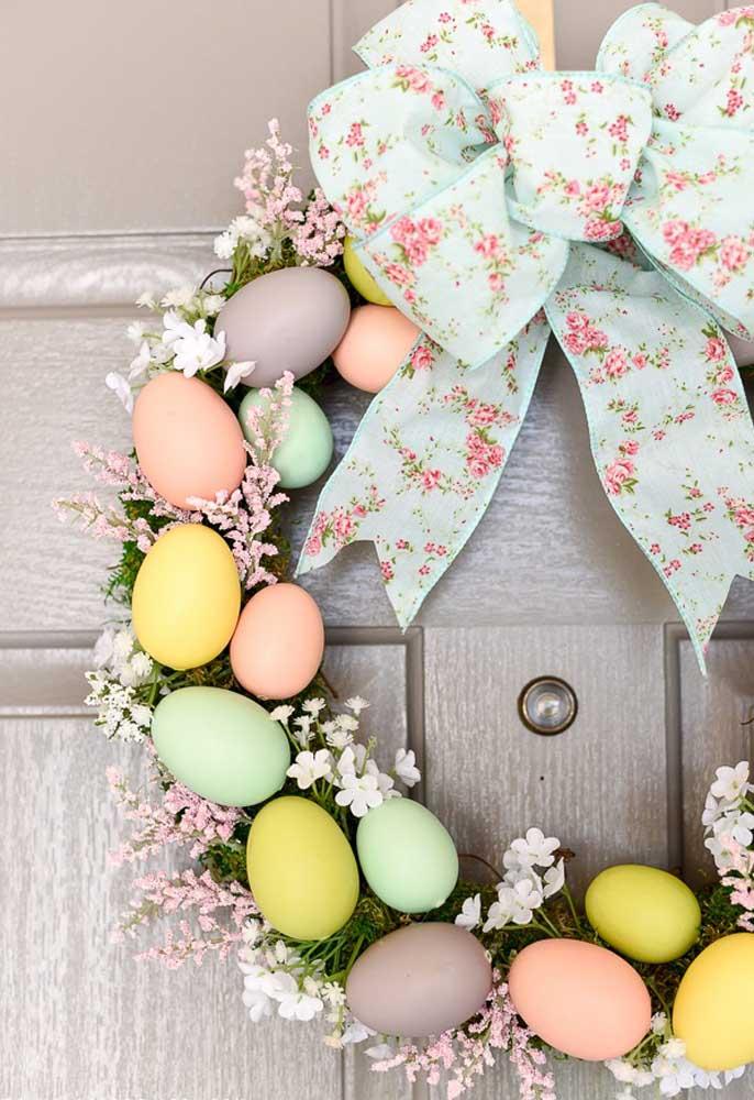 Kranz mit tollen Eiern - Osterdeko