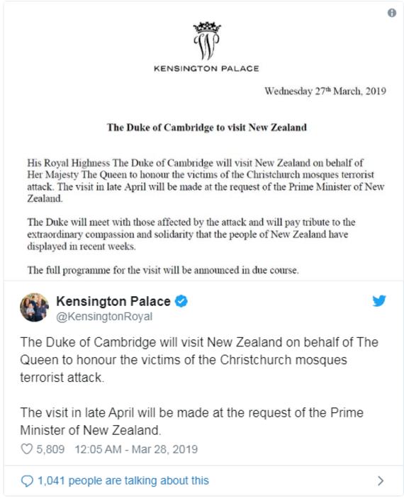 Meghan Markle Prinz Harry Prinz William Kensington Palace Neuseeland Reise