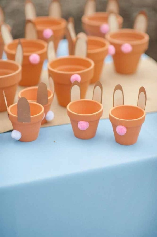 Mini - Blumentöpfe Ostern Geschenke