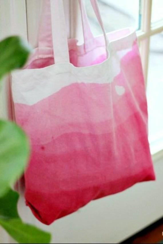 Muttertagsgeschenke basteln DIY Einkaufstüte Farbverlauf