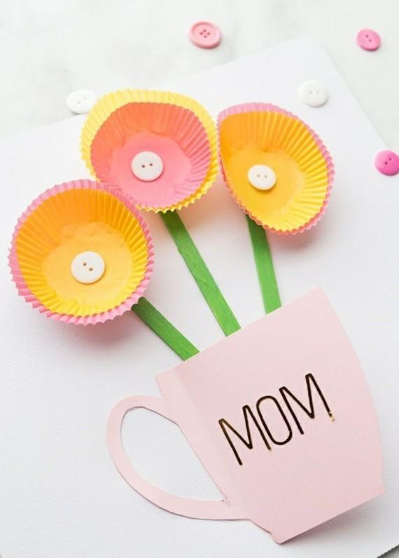 Muttertagsgeschenke basteln DIY Grußkarte Mama