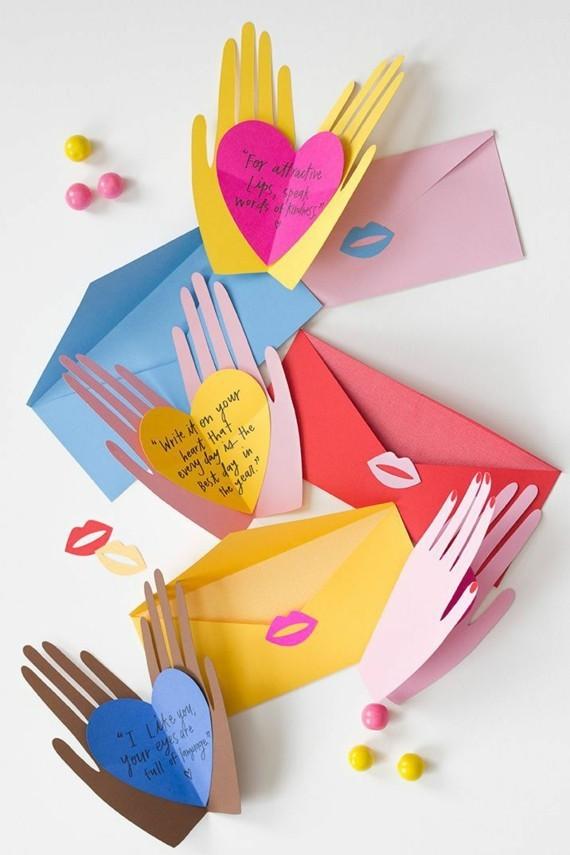 Muttertagsgeschenke basteln DIY Grußkarte
