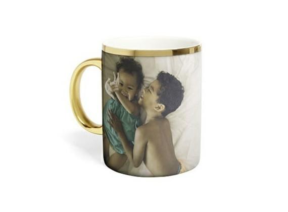 Muttertagsgeschenke basteln DIY Kaffeetassee mit Foto Kinder