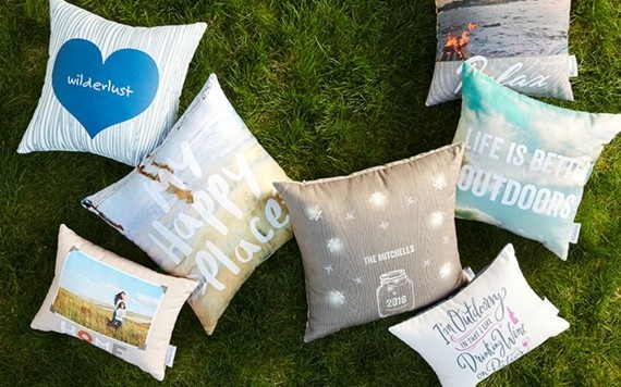 Muttertagsgeschenke basteln DIY Kissenhüllen mit Fotos