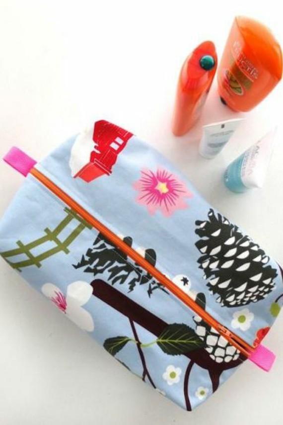 Muttertagsgeschenke basteln DIY Make up Tasche