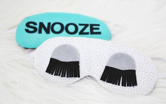Muttertagsgeschenke basteln DIY Schlafmaske