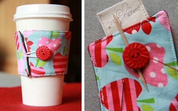 Muttertagsgeschenke basteln DIY Tassenhülle