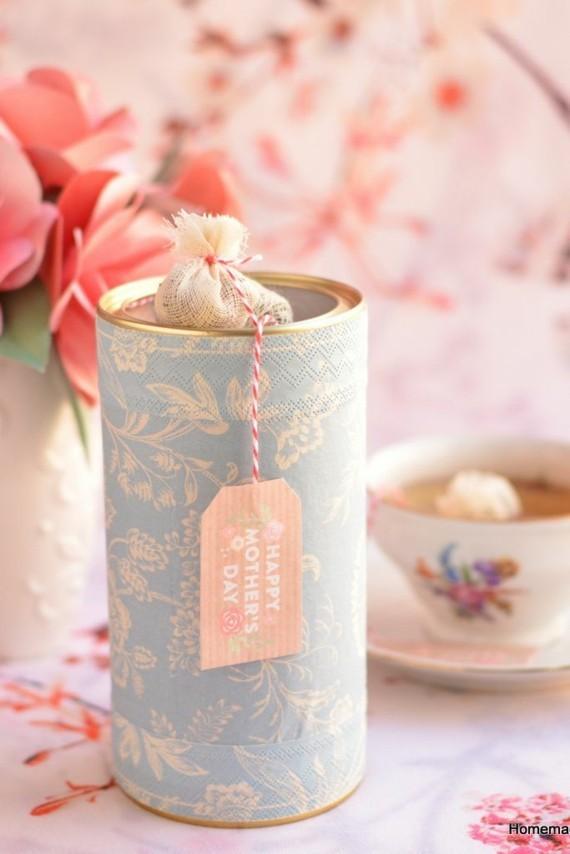 Muttertagsgeschenke basteln DIY Teebeuetel mit Botschaft