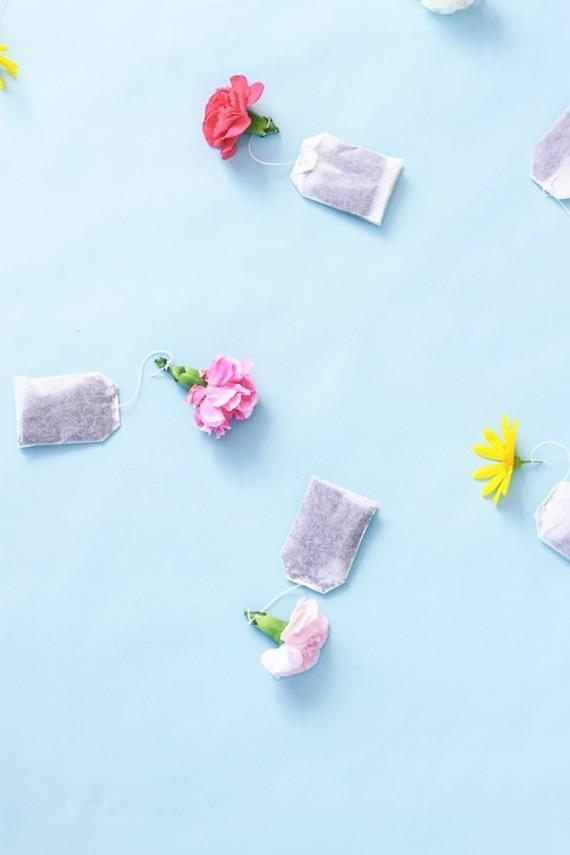 Muttertagsgeschenke basteln DIY Teebeutel Blumen