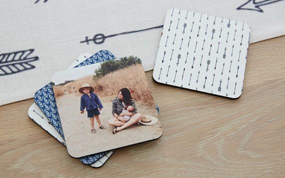 Muttertagsgeschenke basteln DIY Untertassen mit Foto