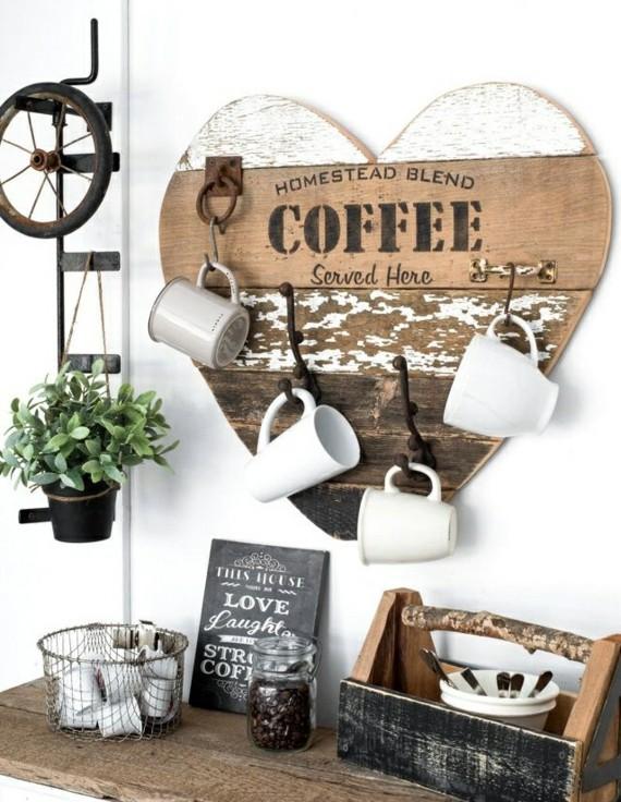 Muttertagsgeschenke basteln DIY Wandschrank Tassen aufhängen