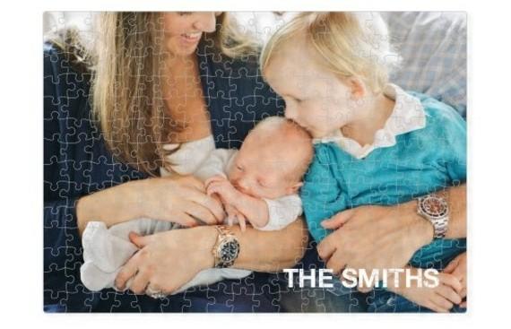 Muttertagsgeschenke basteln Familenfoto Puzzle