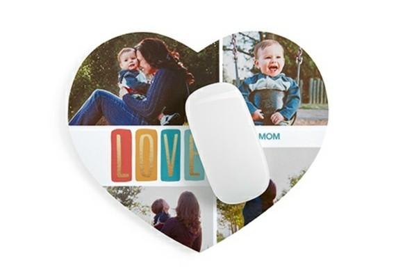 Muttertagsgeschenke basteln personalisierte Geschenkideen Mausmatte