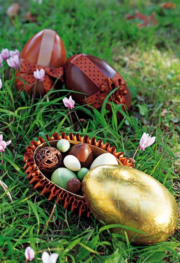 Osterei - Gold mit toller Füllung