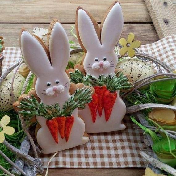 Osterhasen Kekse backen und mit Zuckerguss dekorieren